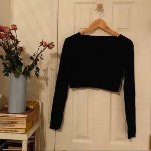 brandy melville atheliq cropped knit top